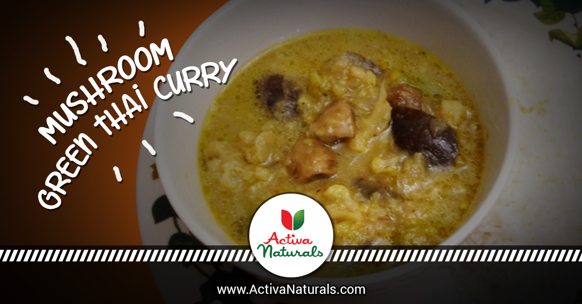 Authentic Mushroom Green Thai Curry